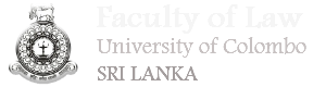 History of the Faculty of Law - Faculty of Law, University of Colombo