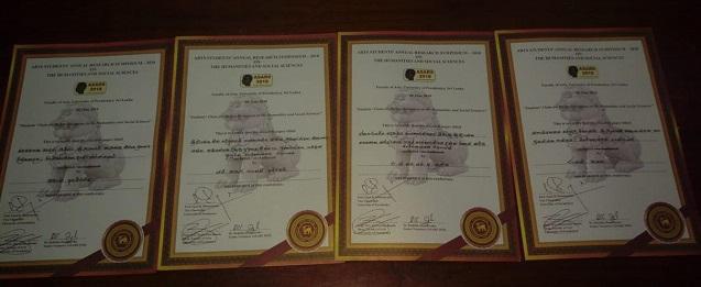 Research Papers (Law) presented at ASARS, University of Peradeniya – 2018