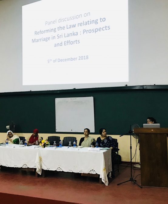 Panel discussion on Marriage Law Reforms in Sri Lanka