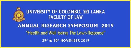 Annual Research Symposium 2019 Faculty of Law, University of Colombo
