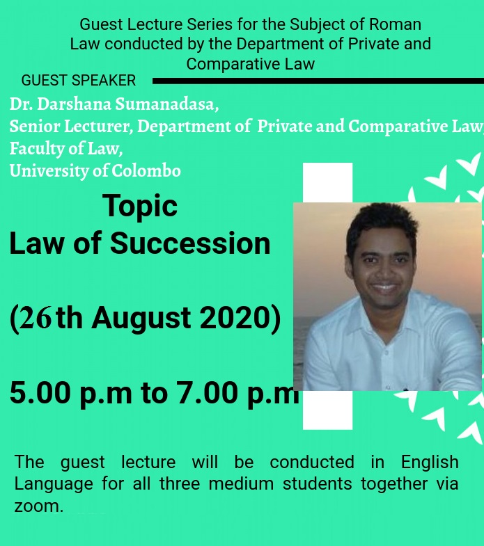 Guest Lecture on Roman law