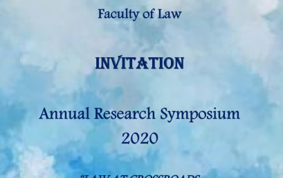 Annual Research Symposium 2020, Faculty of Law
