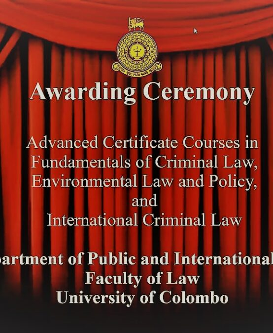Awarding Ceremony of Advanced Certificate Courses -2019/2020