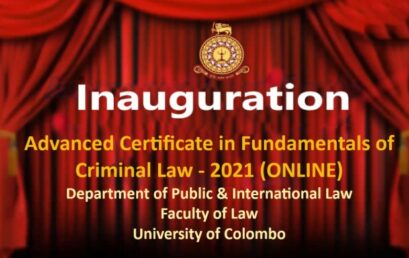 Inauguration Ceremony of Advanced Certificate in Fundamentals of Criminal Law-2021