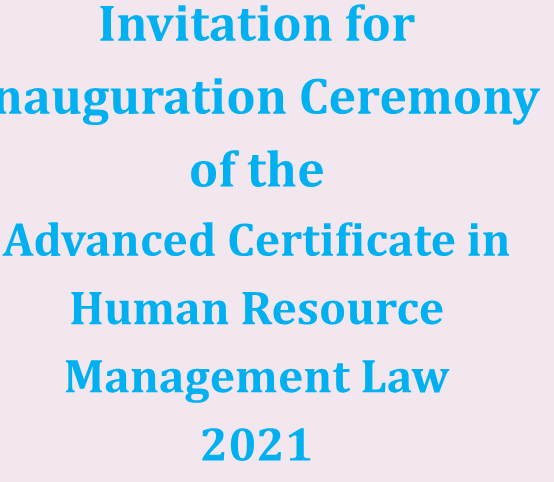 Inauguration Ceremony of the ACHRML