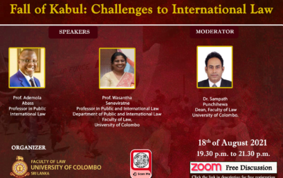 Fall of Kabul: Challenges to International Law – Free Discussion