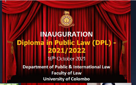 Inauguration Ceremony of Diploma in Public Law-2021